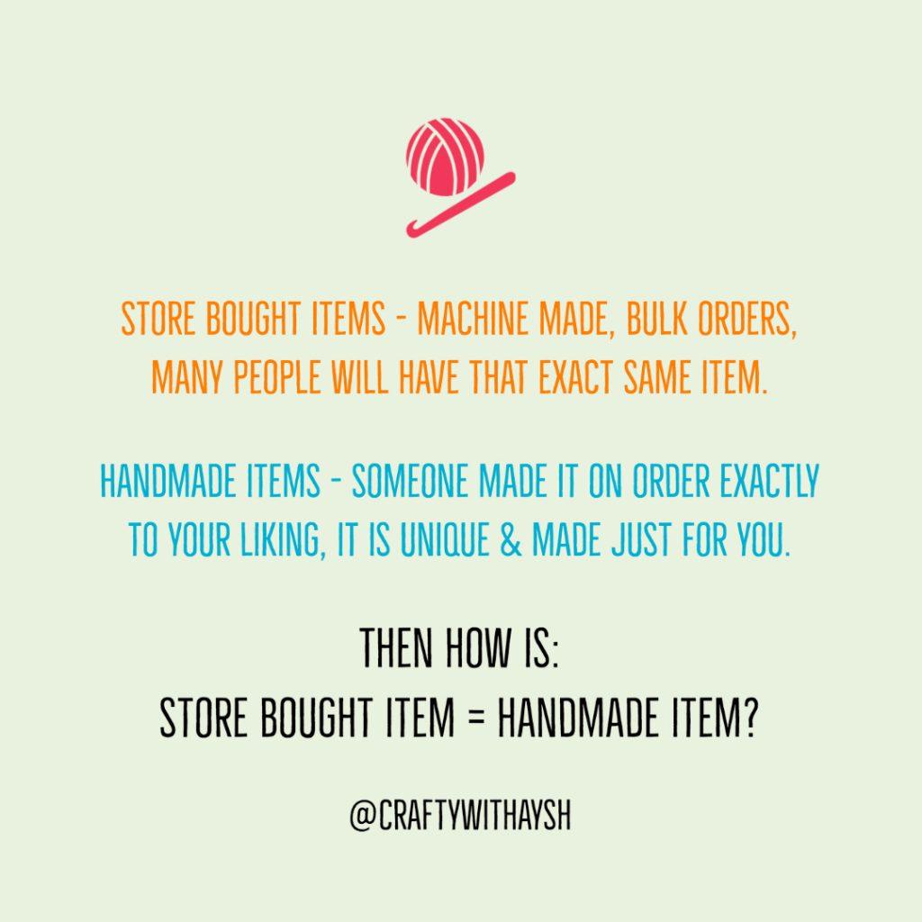 Store bought items vs handmade items JeddahMom
